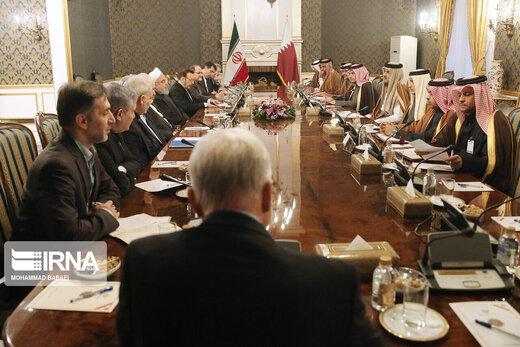توئیت امیر قطر بعد از سفر به تهران