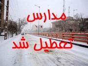 برف شدید مدارس فریدن را تعطیل کرد
