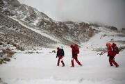 نجات سه جوانی که در بوران گیر افتاده بودند