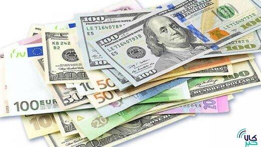 دلار بدون تغییر؛ کاهش نرخ رسمی پوند و یورو