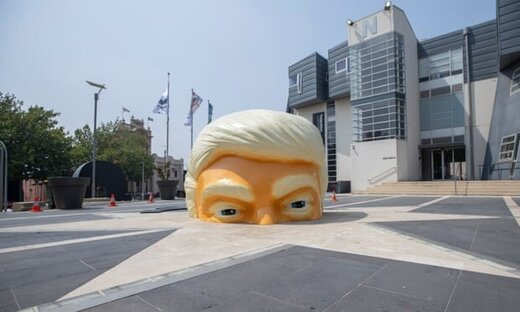 اگر میخواهید وارد سر ترامپ شوید، این اثر هنری را ببینید/ عکس