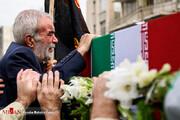 تصاویر   تشییع پیکر دو تن از جانباختگان سانحه هوایی در تهران