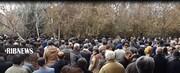 تشییع پیکر ۲ شهید سانحه هوایی در سنندج