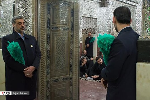 غبارروبی حرم مطهر حضرت عبدالعظیم حسنی (ع)