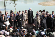 Rouhani says govt stands by flood-hit people