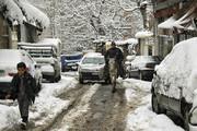 تصاویر | بارش برف مانع رفت و آمد در شمال تهران