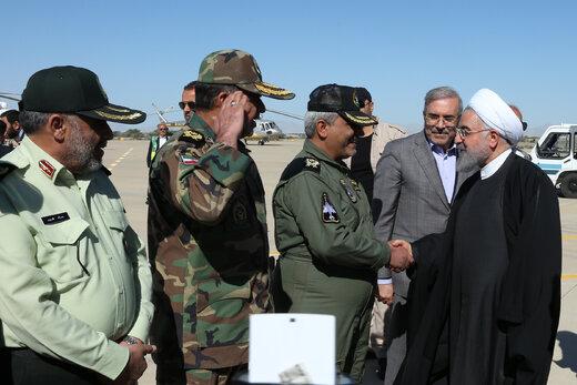 ورود دکتر روحانی به استان سیستان و بلوچستان