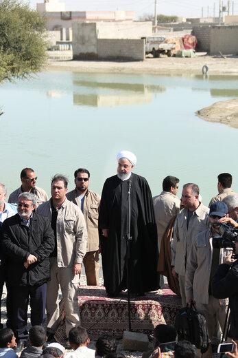 ورود روحانی به استان سیستان و بلوچستان