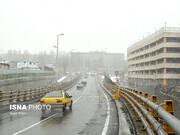 وضعیت ترافیک پایتخت در یکشنبه برفی