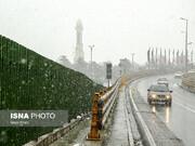 هوای نامطلوب تهران در روز برفی پایتخت