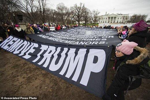تصاویر  خروش زنان علیه ترامپ