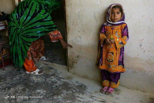 کودکان در سیل دشت یاری سیستان و بلوچستان