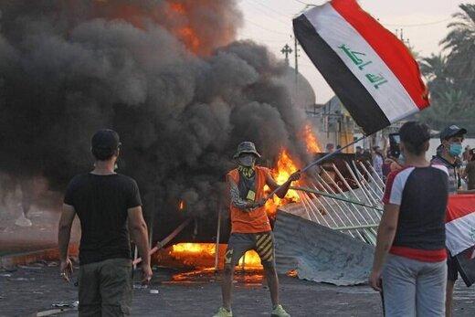 تیراندازی از داخل تظاهرات به سمت نیروهای امنیتی عراق
