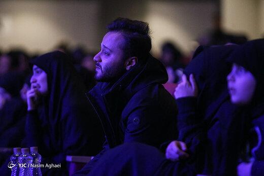 عکس| اشکهای فرزندان سردار شهید سلیمانی در فراق پدر