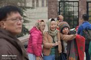تصاویر | ذوقزدگی توریستهای خارجی از گشت در کاخ سعدآباد