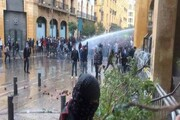 حمله تظاهرکنندگان لبنانی به نیروهای امنیتی