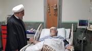 رئیس جمهور از حجتالاسلام شهیدی عیادت کرد +عکس