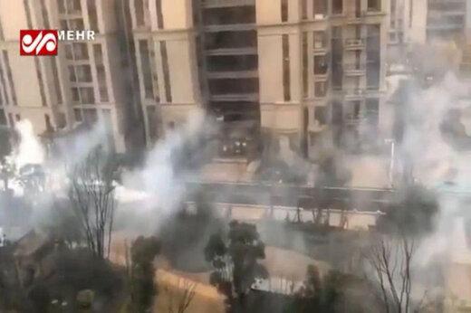فیلم | سمپاشی شهر «ووهان» از ویروس مرگآسای کرونا