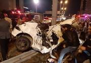 ۲ کشته و ۳ زخمی در تصادف شدید پژو ۲۰۶/ تصاویر