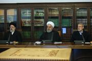 تصاویر | روحانی، لاریجانی و رئیسی در یک جلسه اقتصادی