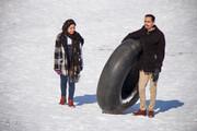 تصاویر | تفریح زمستانی پردیسیها با تیوپ
