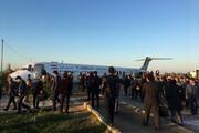 ببینید | وضعیت خدمه پرواز و مسافران هواپیمایی کاسپین که در ماهشهر از باند فرودگاه خارج شد