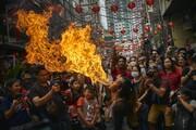 تصاویر | جشن و پایکوبی چینیها به مناسبت سال نو