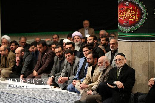 اولین شب مراسم عزاداری حضرت فاطمهزهرا (س) با حضور مقام معظم رهبری