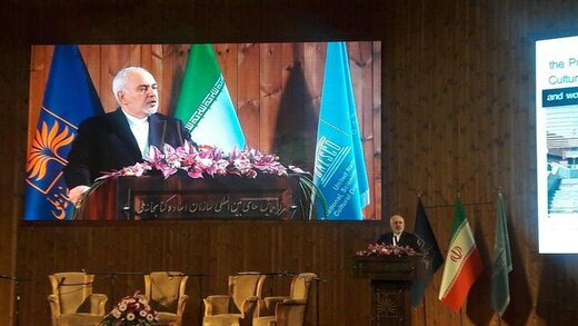 "Zarif: Threats to destroy Iran's civilization centers, clear case of ""cultural terrorism"""