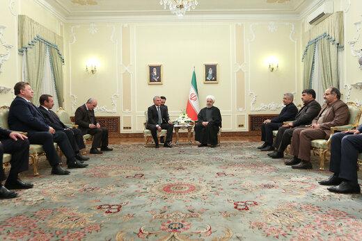 روحاني : العلاقات الايرانية - الروسية آخذة بالنمو خلافا لرغبة امريكا