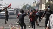 تظاهرکنندگان به سمت نیروهای امنیتی در بغداد نارنجک پرتاب کردند