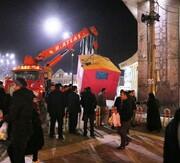 انفجار کانکس کارگران در همدان و مصدومیت ۱۳نفر