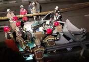 درهم پیچیده شدن اتاقک پژو ۲۰۶ پس از تصادف شدید/ تصاویر
