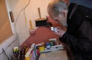 شگردهای هنرمند نابینا برای خلق نقاشیهایش