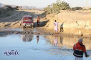 تصاویر | جاده دسترسی شهرستان قصرقند به چابهار مسدود است؛ اما نه به خاطر سیل