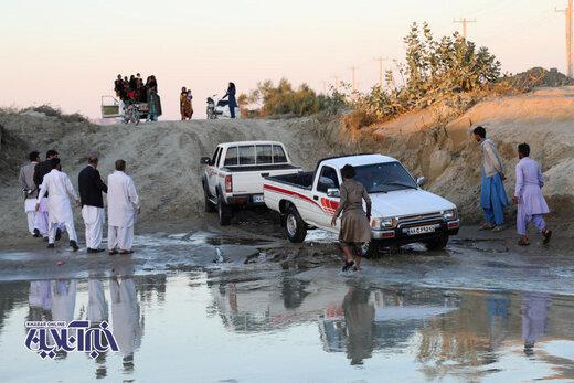 جاده دسترسی شهرستان قصرقند به چابهار مسدود است؛ اما نه به خاطر سیل