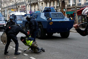 فیلم   برخورد بسیار خشن پلیس اسپانیا با کشاورزان معترض