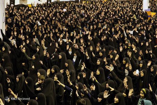 عزاداری شام شهادت حضرت زهرا(س) در حسینیه امام خمینی(ره)
