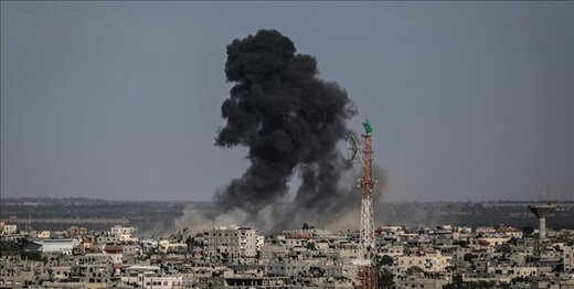 بمباران جنوب نوار غزه / یک زمین کشاورزی هدف قرار گرفت