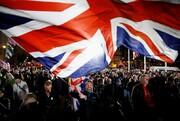تصاویر |  لگد مال کردن پرچم اتحادیه اروپا توسط انگلیسیها