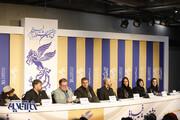 تصاویر | پریناز ایزدیار و محسن تنابنده در نشست خبری فیلم «سه کام حبس»