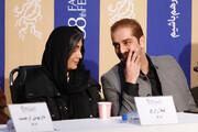 ببینید | لیلا زارع و بابک حمیدیان در نشست فیلم «روز بلوا»