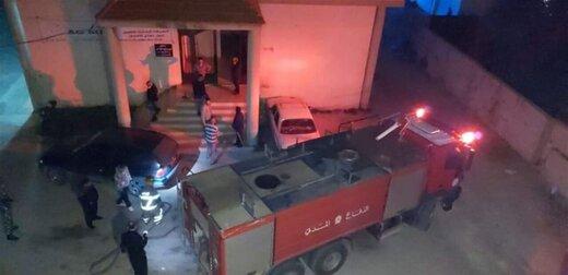معترضان دفتر جبران باسیل را آتش زدند