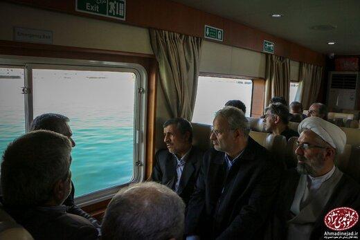 احمدی نژاد در جزیره هرمز