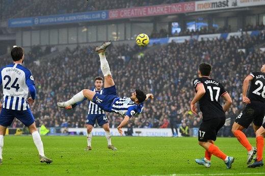 قیچی برگردان جهانبخهش، بهترین گل فصل لیگ برتر انگلیس/عکس