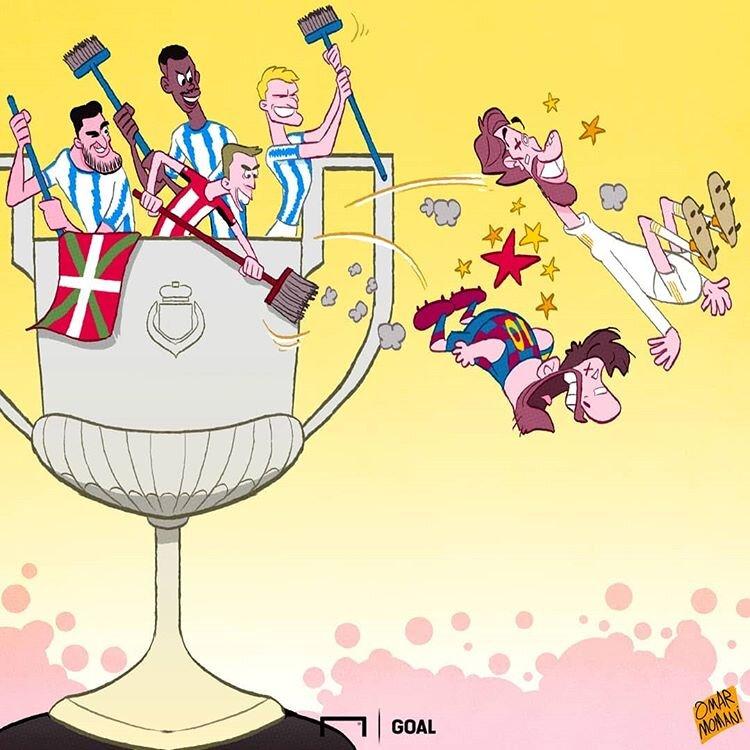 سرنوشت مدعیان اصلی جام حذفی اسپانیا را ببینید!