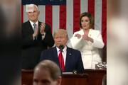 ببینید | دابسمش مشهدی سخنرانی جنجالی ترامپ در کنگره و پارهکردن متن نطقش