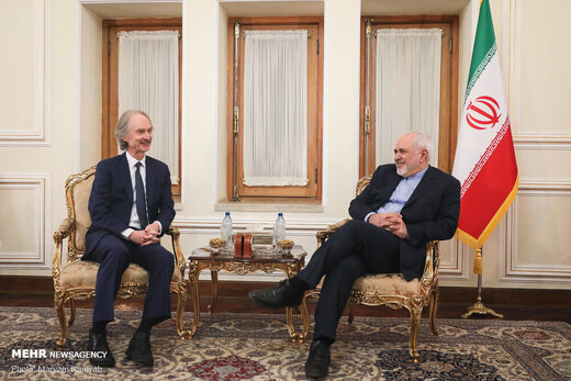 Zarif, UN special envoy for Syria meet in Tehran