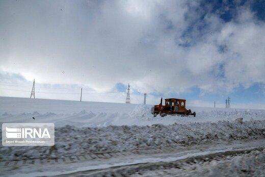 کولاک و مشکل تردد در برخی محورهای کردستان