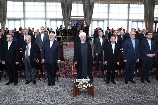 Foreign envoys congratulate Rouhani on anniversary of Islamic Revolution